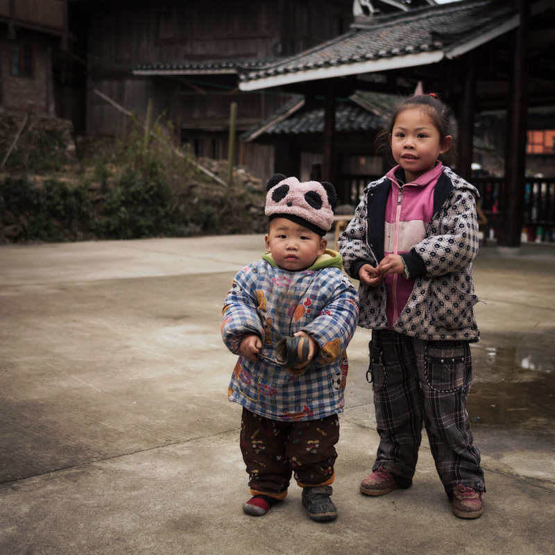 Chinese village children