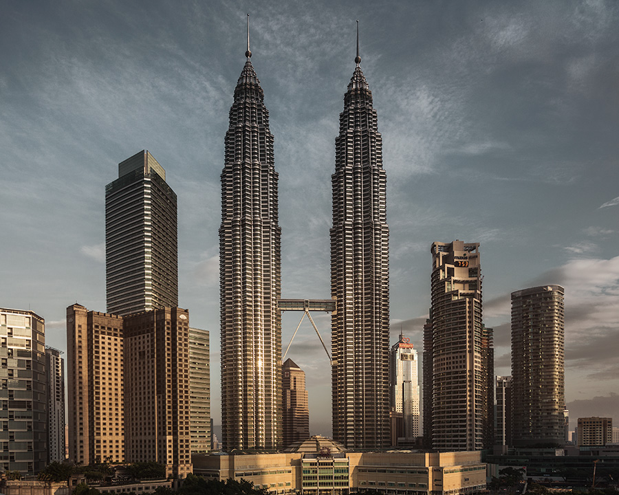 Petronas Two Towers at dawn