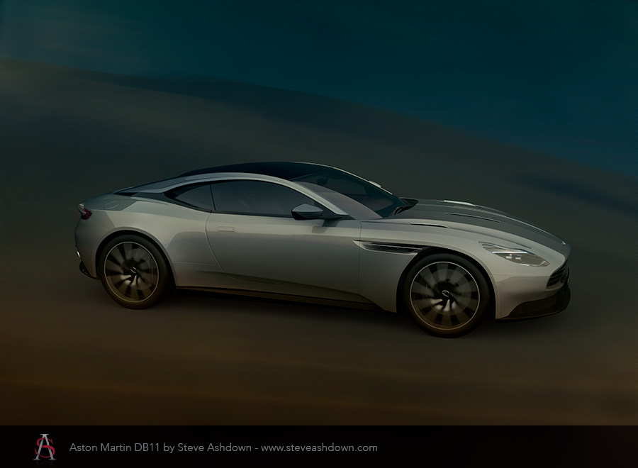 Aston Martin DB11 motion by Steve Ashdown