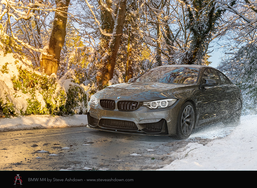 BMW M4 in the snow