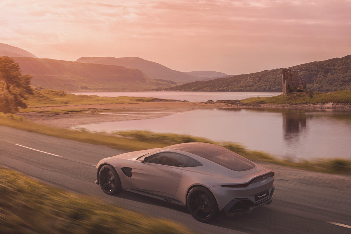 Aston Martin Vantage in Scotland
