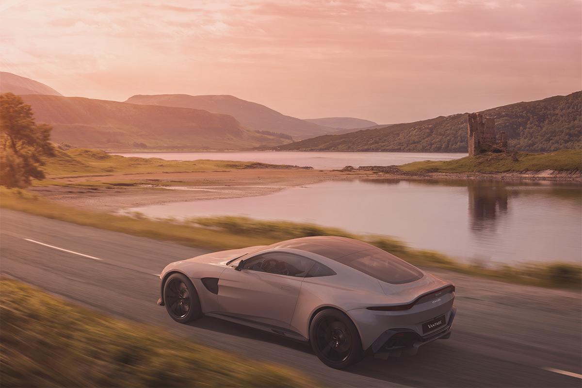 Aston Martin Vantage in Scotland